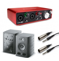 Focal Alpha 50 (Pair) + Focusrite Scarlett 2i2 (2nd Generation) Bundle