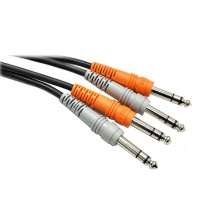 Hosa CSS-201 Dual 6.3mm TRS - Dual 6.3mm TRS Cable 1m