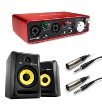 KRK Rokit RP8 G3 (Pair) + Focusrite Scarlett 2i2 (2nd Generation) Bundle