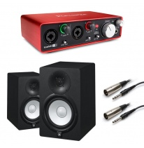 Yamaha HS7 (Pair) + Focusrite Scarlett 2i2 (2nd Generation) Bundle