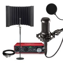 Audio Technica AT 2035 + Focusrite Scarlett 2i2 + Shield + Stand