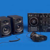 Pioneer DDJ-400 + DM-40 + HDJ-X5-K Bundle