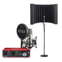 Rode NT1-A + Focusrite Scarlett 2i2 + Shield + Stand Bundle