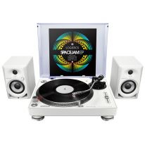 Pioneer PLX-500 + DM-40 White Bundle