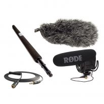 Rode VideoMic Pro + Micro Boompole + Windshield + VC1 Bundle