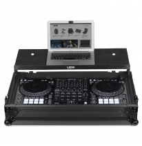 UDG Ultimate Flight Case Pioneer DDJ-1000 Black Plus (Laptop Shelf + Wheels) (U91055BL)